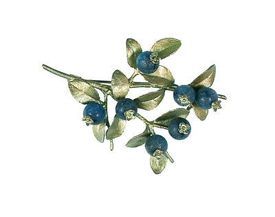 Blueberry Brooch Pin by Michael Michaud for Silver Seasons