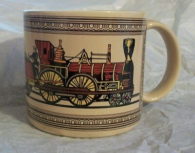 VTG Steam Engine Train Caboose CHAPS Made In Japan Mug Shaving Cup EUC Clean