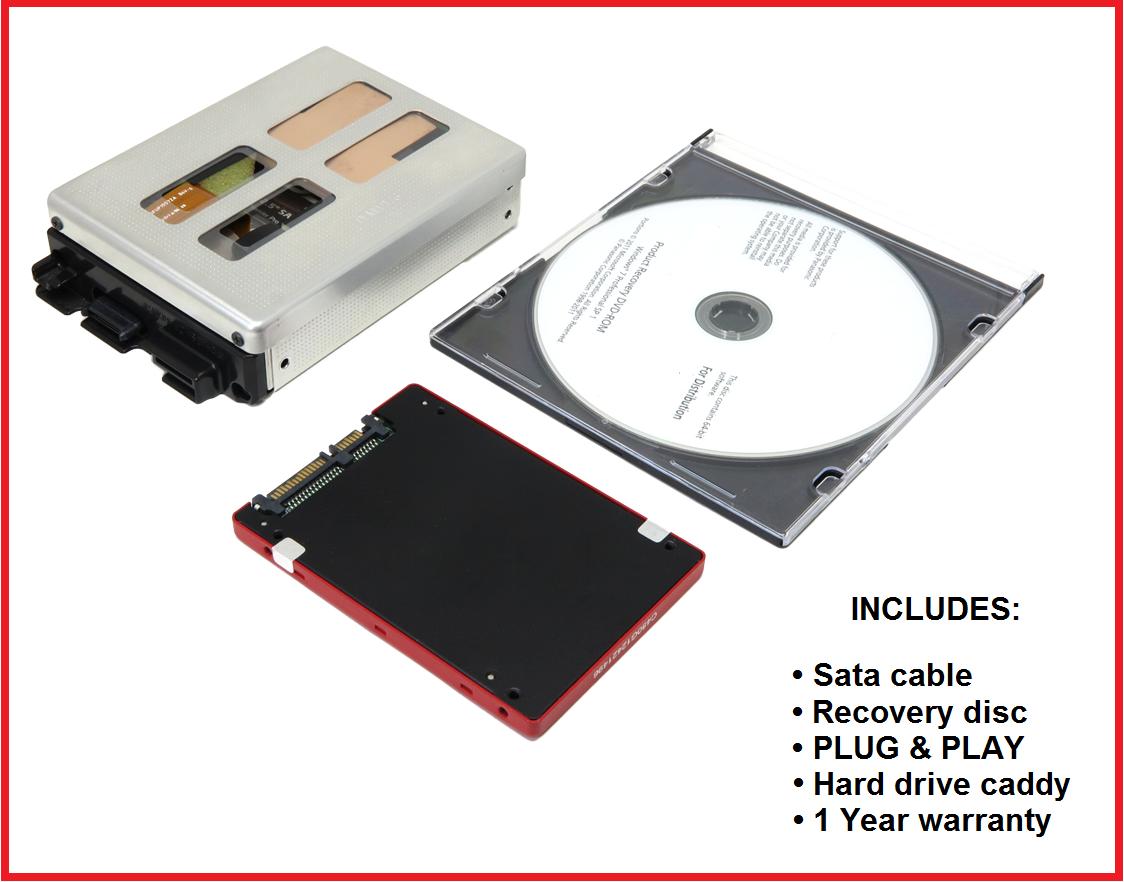 Hard Drive + Caddy + Disc: Panasonic Toughbook CF-30 ~ Win XP or 7 - Sata or SSD