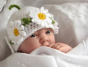 CROCHET PATTERN (INSTRUCTIONS): Daisy Chain Hat, baby, child. Multisize, ref P2