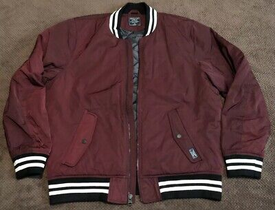 ABERCROMBIE & FITCH Men's Red Varsity Jacket XL Brand New With Tags!