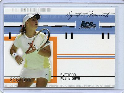 2005 Ace Authentic Signature Moments Svetlana Kuznetsova Sm 9   326 500