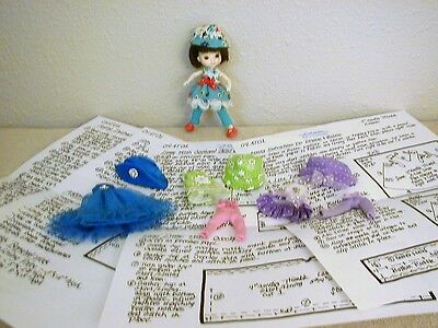 "Dresses/Hats/Tights Pattern 04AT01 For 4"" Wilde Imagination Amelia Thimble Dolls"