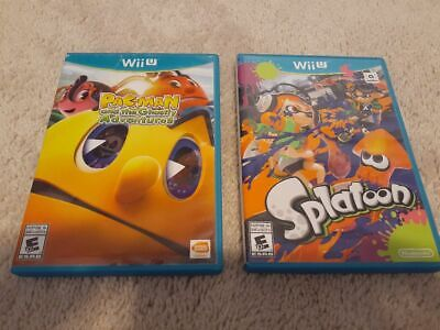 Splatoon and Pac-Man and the Ghostly Adventures Wii U lot