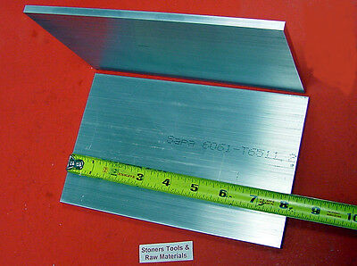 2 Pieces 12 X 6 Aluminum 6061 T6511 Flat Bar 8 Long Solid Plate Mill Stock