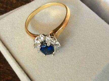 Sapphire and Diamond Ring Bowen Mountain Hawkesbury Area Preview