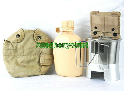 US Military Issue Canteen Cup and ACU Cover with Stove Complete Set Lot ALL NEW