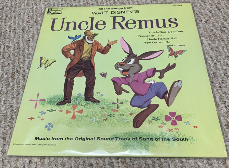 VTG 1963 Disney Uncle Remus Song of the South LP Record Album Soundtrack DQ-1205