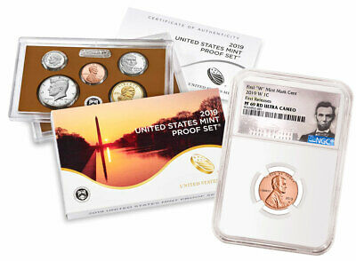 2019 S US Proof Coin Set & 2019-W Lincoln Cent PF69 RD FR PRESALE SKU57608