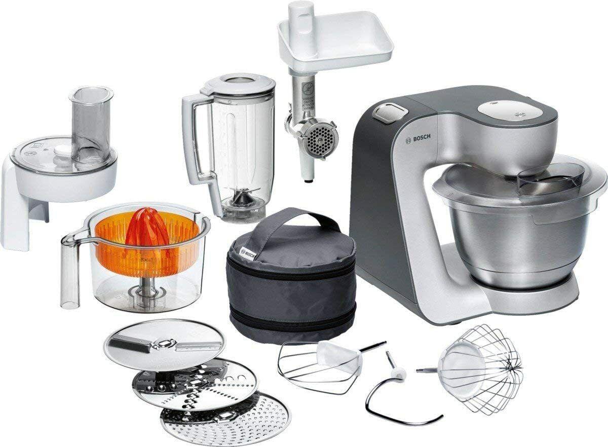 Bosch MUM56340 Styline Küchenmaschine 900 Watt, silber/anthrazit ◄NEU►