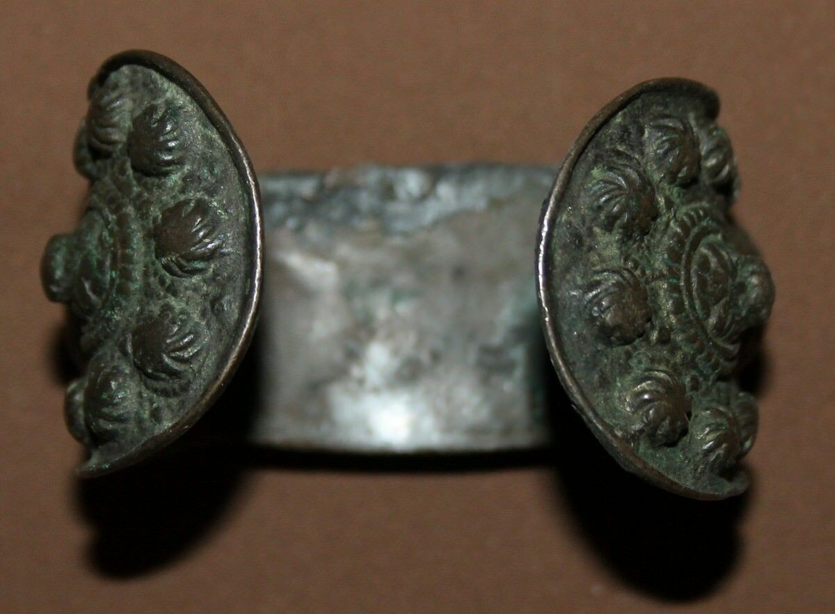 ANTIQUE GREEK HAND MADE BRONZE FERTILITY BRACELET