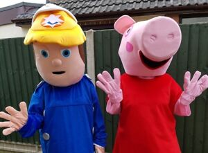 Adults Peppa pig / Fireman Sam Mascot Costume Hire Party Events in LEICESTER  sc 1 st  eBay & Peppa Pig Costume Hire | eBay