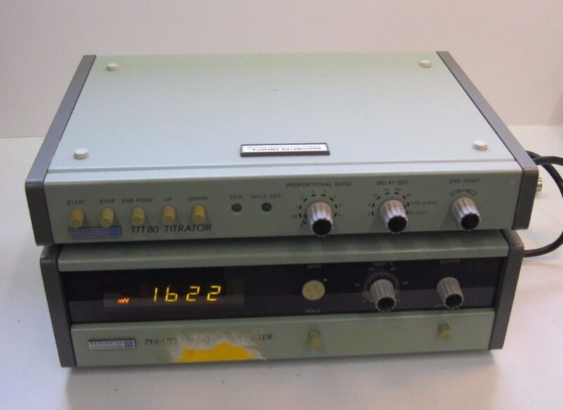RADIOMETER COPENHAGEN TTT80 TITRATOR PHM82 STANDARD pH METER