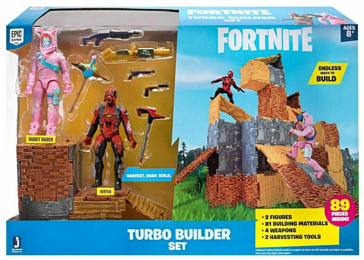 Fortnite Turbo Builder Set 2 Figure Pack, Rabbit Raider & Ve