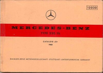 Mercedes Benz 220 Sb Saloon 1960 Original Multilingual Spare Parts List