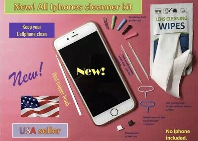 Apple Any Model Iphone Ipod or Ipad  Cleaning set charger port covers clean for sale  Shipping to India