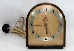 1932-1938 Telechron The Nocturne Model 7F75 Desk Shelf Clock ~ Keeps Good Time