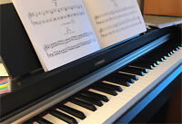 Quality piano and voice music lessons with a PhD teacher