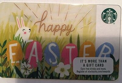 Starbucks happy easter giftebay starbucks happy easter gift card issued 2017 collectible mint negle Gallery