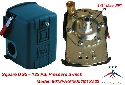 Square D 95-125 Psi Air Compressor Pressure Switch Control Valve 9013fhg19j52m1x