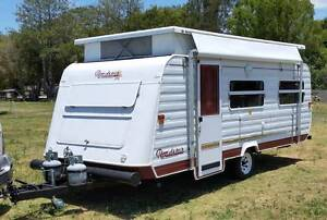 ROADSTAR 17ft CARAVAN, SINGLE BEDS, FULL ANNEXE, 12V BATTERY Burpengary Caboolture Area Preview