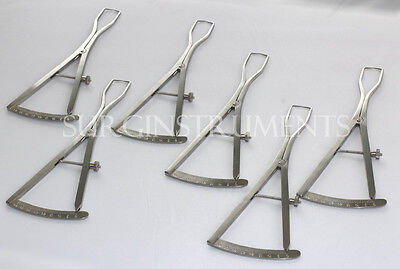 6 Piece Set Of Castroviejo Ridge Maping Caliper 6 Implant Dental Surgical