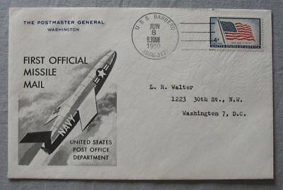 S1101) Rocket Mail USA First Official Missile Mail Uss Barbero 1959