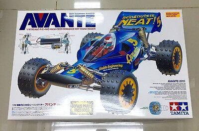 Tamiya Electric RC 1:10 Avante 2011 Off Road Buggy Kit  #58489 with Bonus Parts