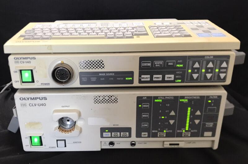 Olympus CV-140 Processor with CLV-U40 Light Source and Keyboard