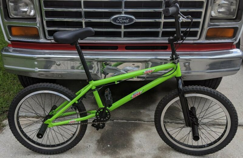 Pair Of Limited Edition Mountain Dew Bmx Bicycle