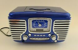 Crosley Corsair Retro Alarm Clock Radio CD Player CR612 Blue RARE Color