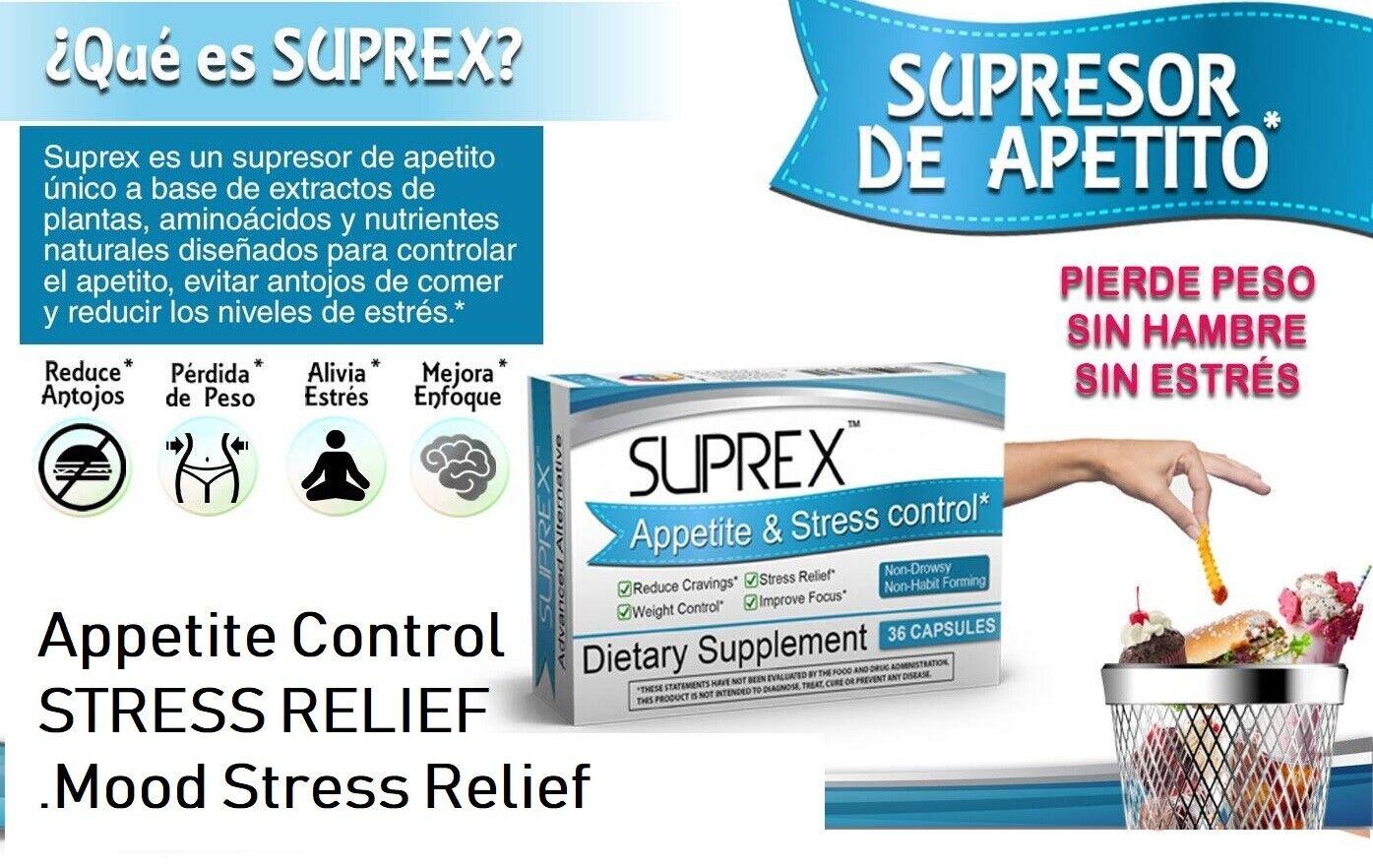 Suprex Appetite & Stress control Stress Relief Mood Appetite Control gluten % of 1