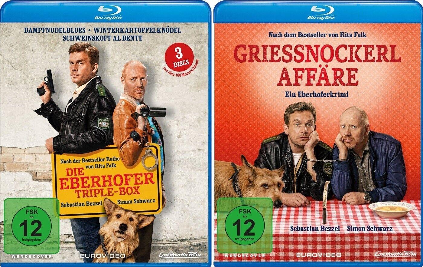 4 Blu-rays * EBERHOFER - 4 FILME SET (TRIPLE BOX+GRIESSNOCKERLAFFÄRE) # NEU OVP%