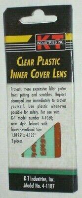 Kt Industry 4-1187 Clear Plastic Inner Cover Lens For Welding Helmet 4-1050 2 Pk