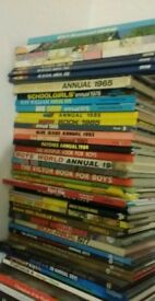 35 x VINTAGE ANNUALS. FROM 1965. £50 OR BEST OFFER.WOW