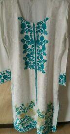 3 piece stitched Pakistani causal suit. Size Large