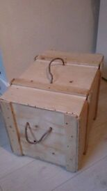 WOODEN STORAGE BOX, Records, logs, etc