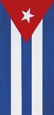 "Cuba Flag Beach Towel - 30"" x 60"" - Velour - Made In Brazil"