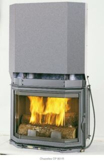 Chazelles CPR801R wood fireplace - closed or open fireplace Avalon Pittwater Area Preview