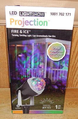 Gemmy LED Halloween Fire & Ice Orange/Purple/Green Projection Light Show - Orange Show Halloween