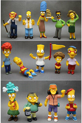 Lot of 14PC  THE SIMPSONS FAMILY  Figure  Collection Loose