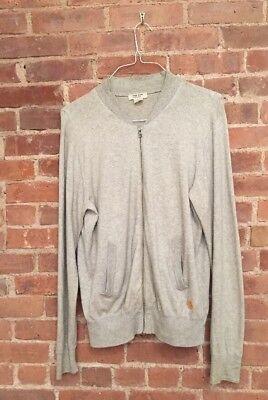 Acne Men's Zip Cardigan Sweatshirt Cotton Cashmere Blend, Size Large
