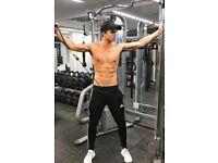 Shirtless Male Athletic Muscular Beefcake Sweaty Gym Jock Workout PHOTO 4X6 D485