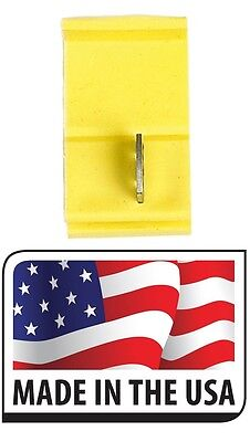 50 Scotch Locks YELLOW quick splice electrical terminal 12-10 GA. MADE IN USA