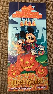 2015 Mickey's Not So Scary Halloween Party Walt Disney World Event Map