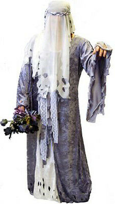 Halloween/Scary/Evil/Gothic FORGOTTEN BRIDE Fancy Dress Costume All Ladies Sizes - Evil Bride Halloween Costume
