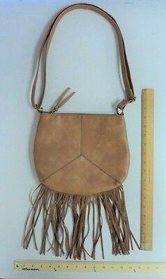 TAN BROWN Cross Body Tote Purse Hand Bag Satchel Style FRINGE - FLASH SALE](Cheap Tote Handbags)