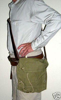 Original real thing 1942 WWII Mk VII Gas Mask Indiana Jones Raider Bag & Strap (Reales Gas Maske)