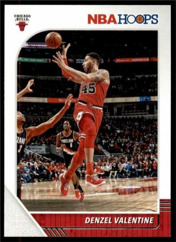 2019-20 Panini NBA Hoops Base #30 Denzel Valentine - Chicago