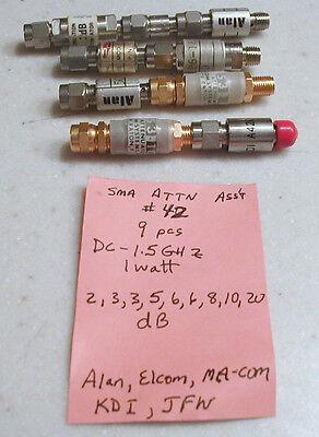 Sat-42 Sma Type Attenuator Assortment Dc-1.5 Ghz 9 Pcs.